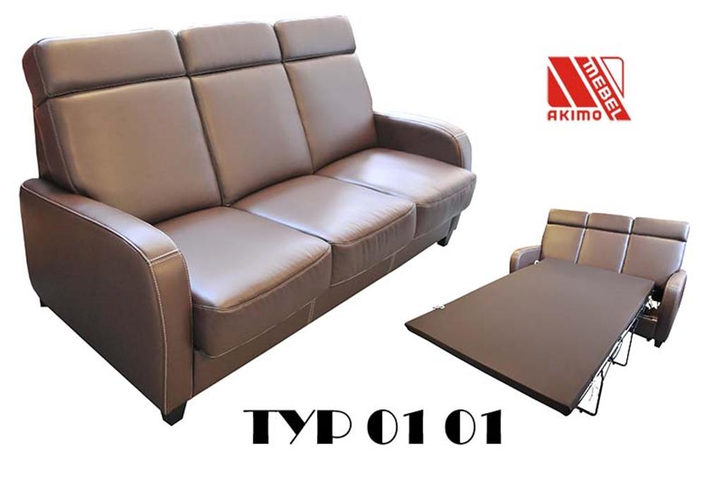 Typ 01 kanapa z dodatkowymi zagłówkami i funkcją spania łóżko belgijskie