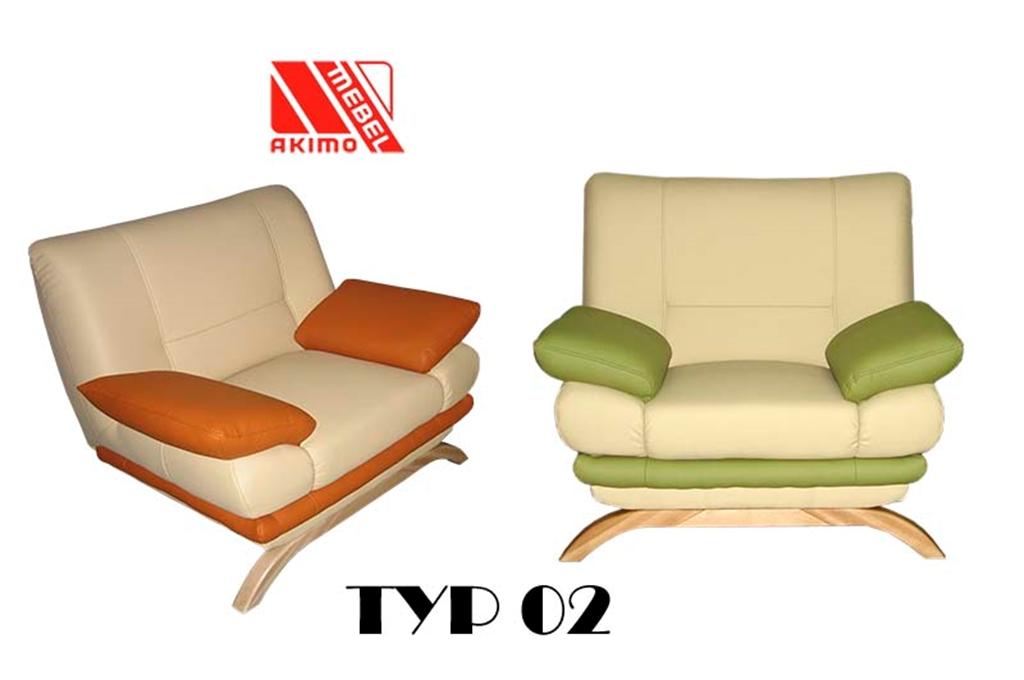 Typ 02  fotel na drewnianej płozie