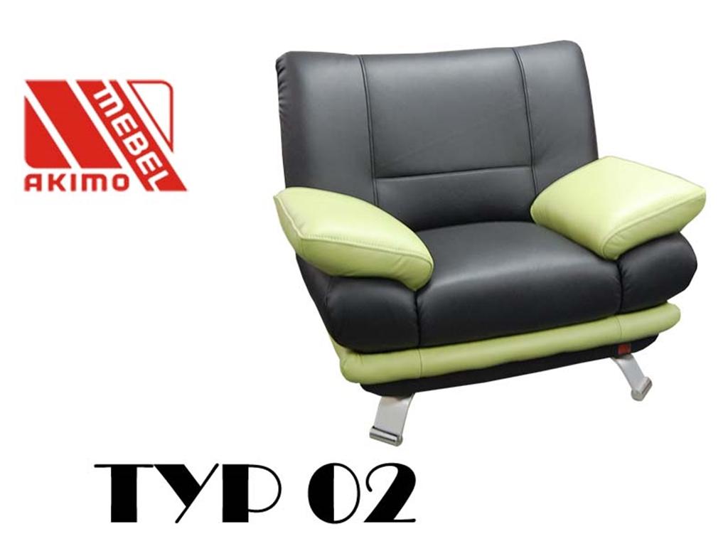 Typ 02  fotel skóra naturalna w dwóch kolorach