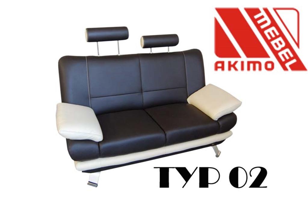 Typ 02  kanapa z dodatkowymi zagłówkami