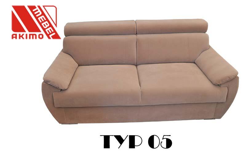 Typ 05 kanapa - pomniejszone poręcze