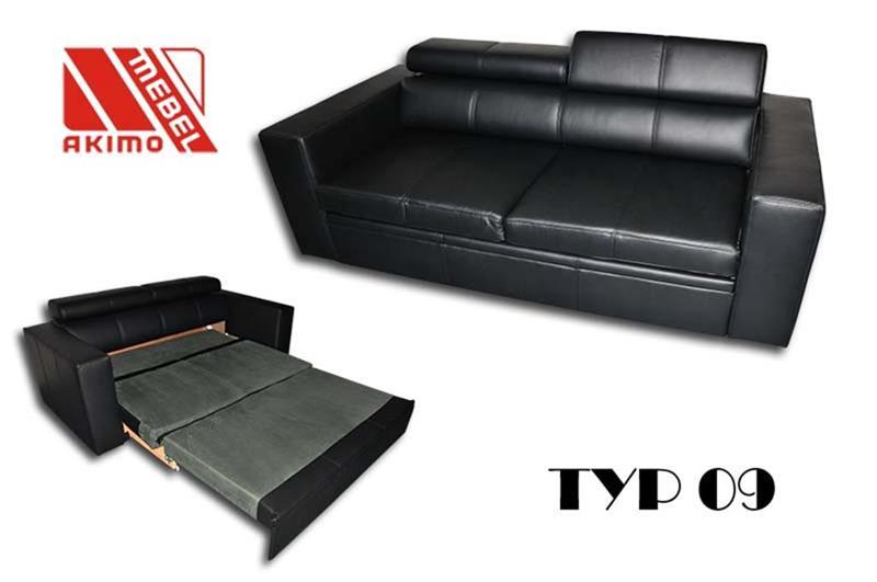 Typ 09  kanapa z funkcją spania wózek