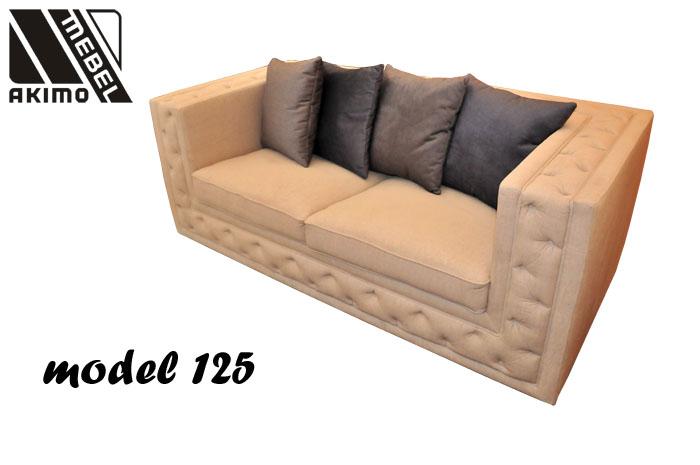 TYP 125  kanapa z ozdobnymi poduszkami