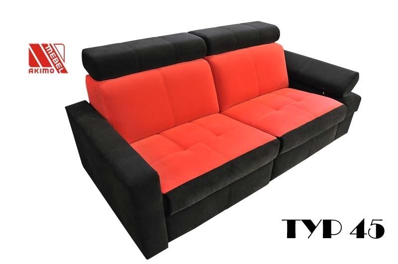 Typ 45 kanapa wykonana z tkaniny carabu