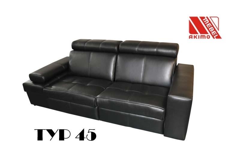 Typ 45 sofa skóra naturalna