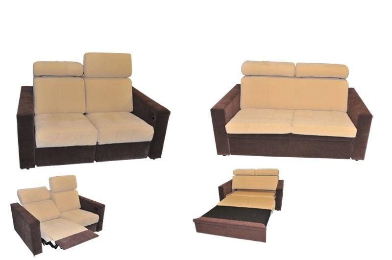 Typ 45 zestaw mebli kanapa z funkcją relax oraz kanapa z funkcją spania