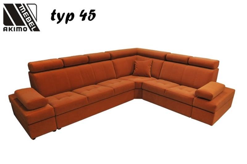 Typ 45 narożnik z tkaniny łatwoczyszczącej