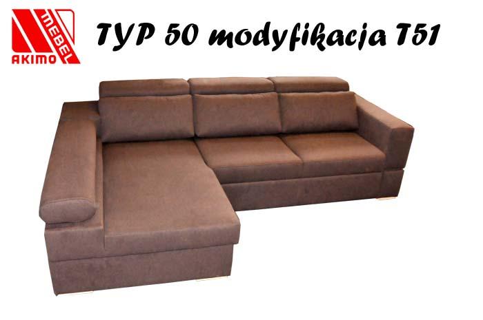 Typ 50  narożnik z dodatkowymi poduszkami
