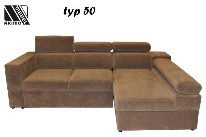 Typ 50  narożnik w tkaninie łatwoczysczącej